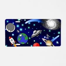 Kids Galaxy Universe Illust Aluminum License Plate