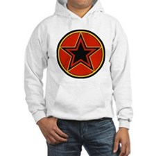 Bold Red and Black Star Hoodie