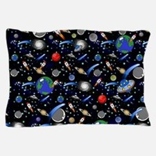 Kids Galaxy Universe Illustrations Pillow Case