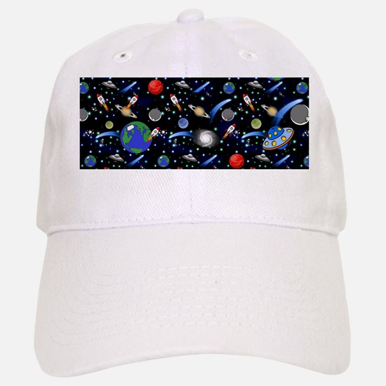 Kids Galaxy Universe Illustrations Baseball Baseball Cap