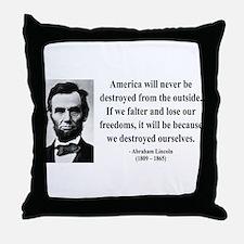 Abraham Lincoln 2 Throw Pillow