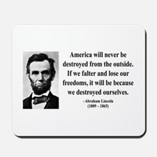 Abraham Lincoln 2 Mousepad