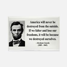 Abraham Lincoln 2 Rectangle Magnet