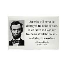 Abraham Lincoln 2 Rectangle Magnet (10 pack)