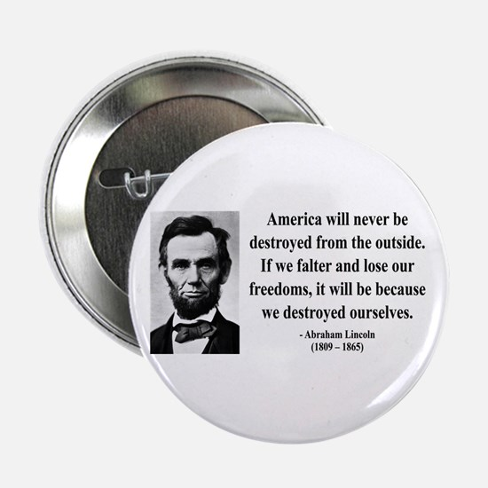 "Abraham Lincoln 2 2.25"" Button"