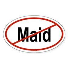 MAID Oval Decal
