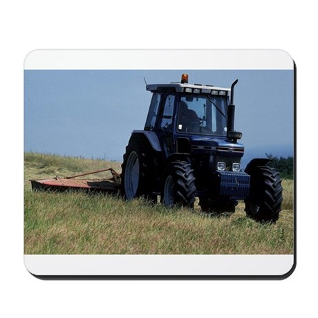 Green Tractor in the Field Mousepad