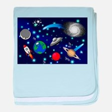 Kids Galaxy Universe Illustrations baby blanket