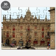 Fountain outside Santiago Cathedral, Spain Puzzle