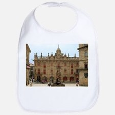 Fountain outside Santiago Cathedral, Spai Baby Bib