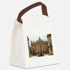 Fountain outside Santiago Cathedr Canvas Lunch Bag