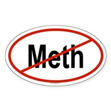 METH Oval Bumper Stickers