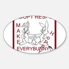Adopt Rabbit Responsibly Decal