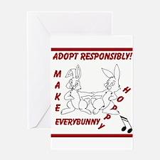 Adopt Rabbit Responsibly Greeting Cards