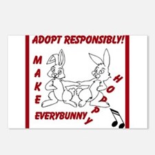 Adopt Rabbit Responsibly Postcards (Package of 8)