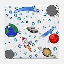 Kids Galaxy Universe Illustrations Tile Coaster