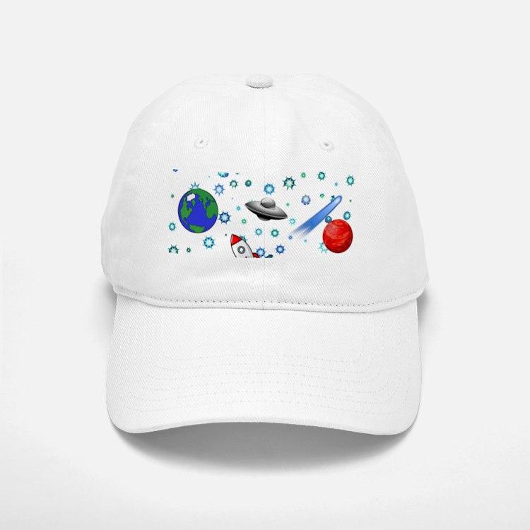 Kids Galaxy Universe Illustrations Baseball Baseball Cap