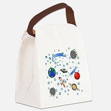 Kids Galaxy Universe Illustration Canvas Lunch Bag