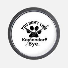 You Do Not Like Komondor Dog ? Bye Wall Clock
