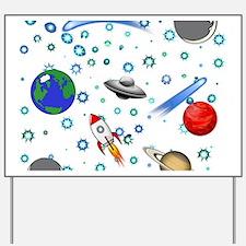 Kids Galaxy Universe Illustrations Yard Sign