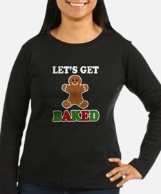 Let's Get Baked funny gingerbread christmas holida