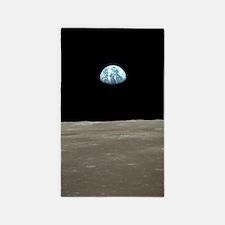 Earthrise From Apollo 11 Moon Landing Area Rug