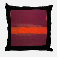 ROTHKO ORANGE MAROON 22 Throw Pillow