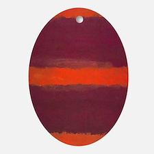 ROTHKO ORANGE MAROON 22 Oval Ornament