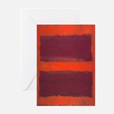 ROTHKO ORANGE MAROON 22 Greeting Cards