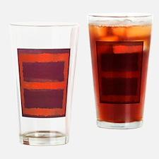 ROTHKO ORANGE MAROON 22 Drinking Glass