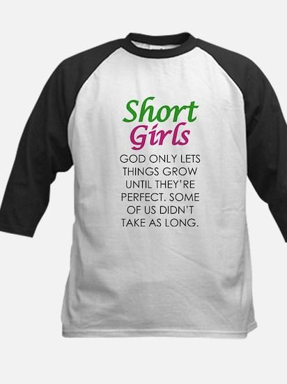 Short Girls T Shirt Baseball Jersey