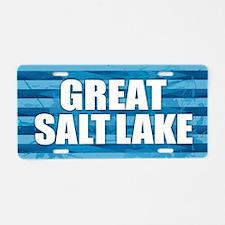 Great Salt Lake Aluminum License Plate