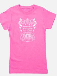Girls Motorcycle Rider T Shirt T-Shirt
