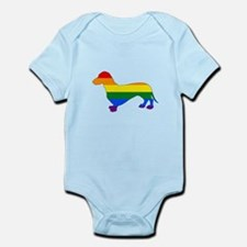 Rainbow Dachshund Body Suit