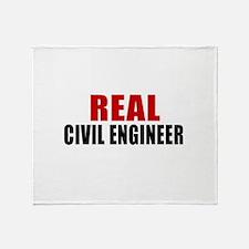 Real Civil engineer Throw Blanket