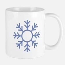Blue Snowflake Ornament Mugs