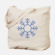 Blue Snowflake Ornament Tote Bag
