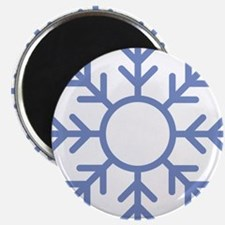 Blue Snowflake Ornament Magnets