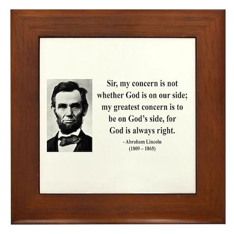 Abraham Lincoln 3 Framed Tile