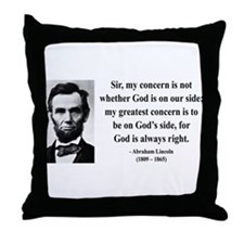 Abraham Lincoln 3 Throw Pillow
