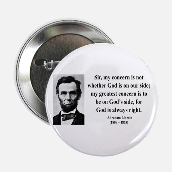 "Abraham Lincoln 3 2.25"" Button"