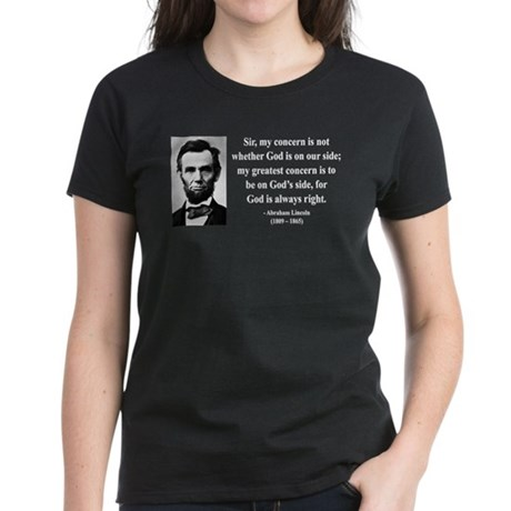 Abraham Lincoln 3 Women's Dark T-Shirt