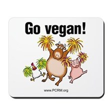Go Vegan! Cheer Mousepad