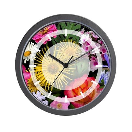 Mixed Flowers Wall Clock