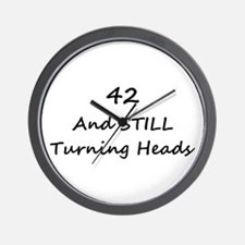 42 Still Turning Heads 1C Wall Clock