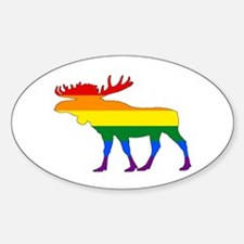 Rainbow Moose Decal