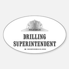 Drilling Superintendent Oval Decal