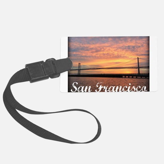Sunrise Over The Golden Gate Bridge Luggage Tag