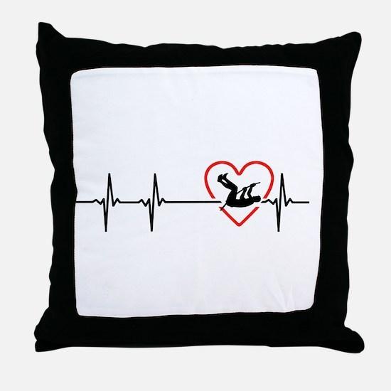 i love pole vault Throw Pillow