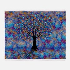 Colorful Tree of Life Tree Carnival Throw Blanket